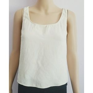 Emanuel Ungaro Tan/Creme Off White Tank Top